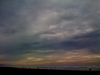 image of cloudy afternoon skies over Ocean Beach, January 10, 2010 by A.E. Graves
