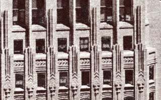 detail of Shell Building photogravure by A.E. Graves