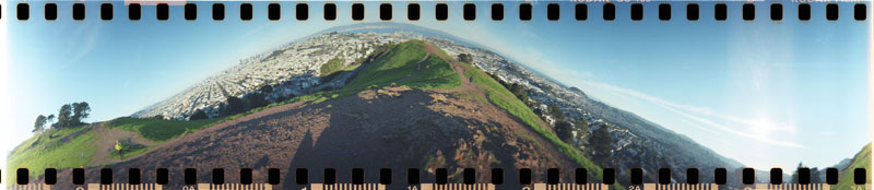panoramic image from atop Bernal Heights in San Francisco by A.E. Graves