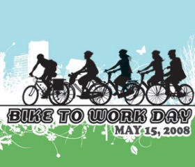 Bike To Work Day 2008 logo from the San Francisco Bicycle Coalition