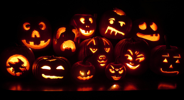 jack o lantern group portrait by Steven Pitsenbarger