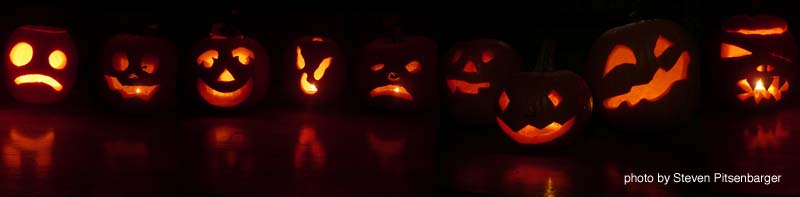 jack o lantern group photo lineup by Steven Pitsenbarger