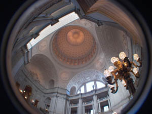 fisheye view of San Francisco City Hall rotunda
