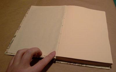 bookbinding in progress