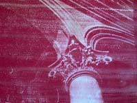 red gum bichromate print of corinthian column and arch
