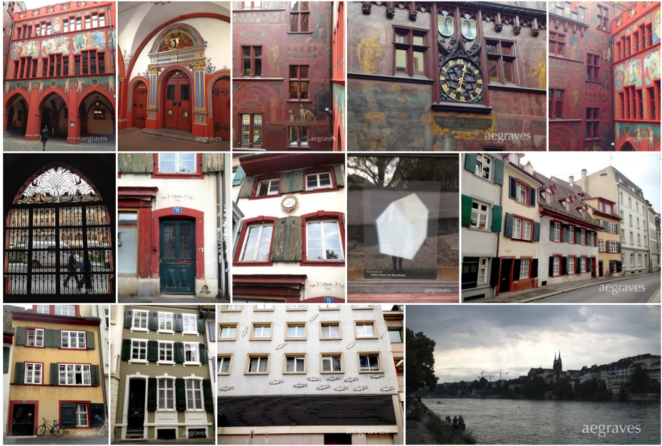 photo collage of scenes from Basel, Switzerland by A.E. Graves